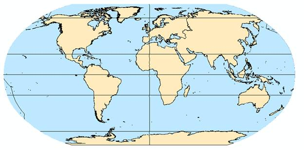 Image002g figure1 world map under robinson projection provided by esri robinson minimizes shape and area distortion of world in relation to the equator gumiabroncs