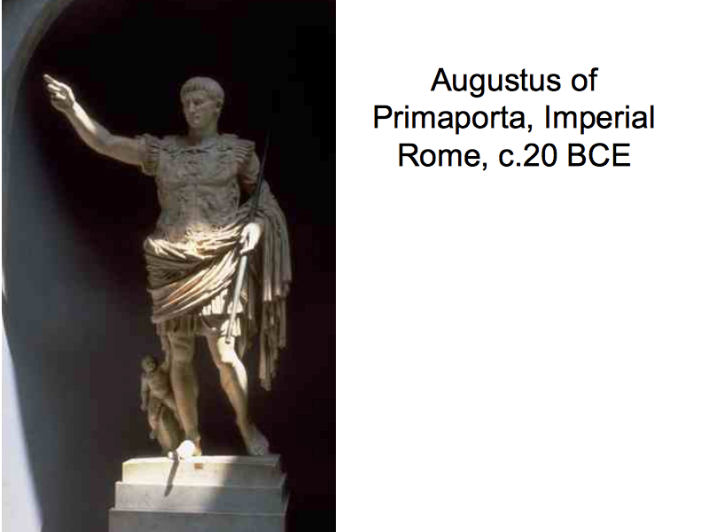 description of the statue augustus of primaport