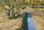 Autumn Along an Alameda Canal oil by Jeff Potter AVAILABLE