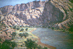 The Green River in Dinosaur National Park, Utah oil by Jeff Potter  SOLD