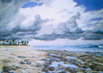 Halcyon Point, Bahamas pastel by Jeff Potter  SOLD