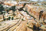 Lower Calf Creek pastel by Jeff Potter AVAILABLE