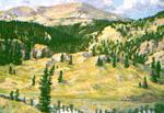 Mix Lake Below Conejos Peak oil by Jeff Potter  SOLD
