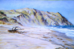 Point Reyes Seashore pastel by Jeff Potter  SOLD