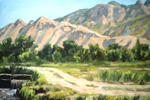 Chamisal Acequia oil by Jeff Potter  SOLD