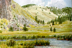 Costilla Creek in Valle Vidal watercolor by Jeff Potter