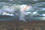 Ortiz Mountain Deluge pastel by Jeff Potter