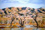 Bald Eagles Roosting at Bosque del Apache pastel by Jeff Potter AVAILABLE