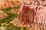 Cliffs at Fruita pastel by Jeff Potter AVAILABLE
