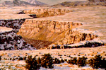 Rio Grande Gorge in Winter oil by Jeff Potter   SOLD