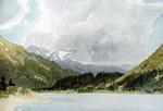 Kenai Lake watercolor by Jeff Potter