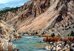 The Rio Grande Near Pilar oil by Jeff Potter   SOLD