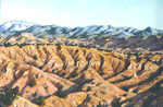 Redondo Peak and Santa Ana Mesa pastel by Jeff Potter AVAILABLE