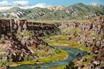 Rio Pueblo de Taos oil by Jeff Potter AVAILABLE