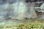 San Mateo Mountain Thunderstorm watercolor by Jeff Potter