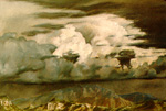 Storm Over Sandia Mts. pastel by Jeff Potter   SOLD