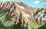 Way Up in the Wasatch pastel by Jeff Potter   SOLD