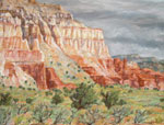 Cliff at Grand Staircase plein air pastel by Jeff Potter AVAILABLE