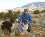 That's me with Azor, T.J. and Zosia in the Sandia Mountain foothills, Feb. 2009