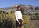 Jeff below Powell Point, Utah during Oct. 07