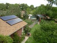 rooftop photo of our 3.6 kW photovoltaic array
