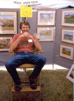 Jeff at an Art Fair in Patagonia, AZ
