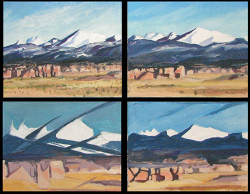 Mount Taylor Progressive stages to abstraction oil by Jeff Potter AVAILABLE