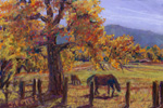 Autumn Horses in Alameda pastel by Jeff Potter AVAILABLE