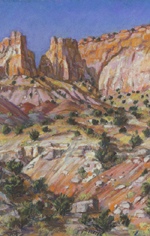 Beyond Long Canyon pastel by Jeff Potter SOLD