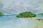 Broken Cay, Bahamas watercolor by Jeff Potter