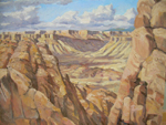 Burr Trail View - plein air oil painting by Jeff Potter SOLD