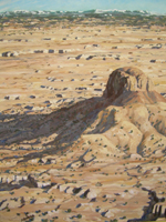 Cabezon Peak View from the Southwest oil by Jeff Potter AVAILABLE