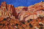 Capitol Reef Cliff plein air pastel by Jeff Potter AVAILABLE