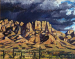 Storm over Santa Catalina Mountains oil painting by Jeff Potter AVAILABLE