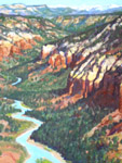 Chama River Canyon oil painting by Jeff Potter  AVAILABLE