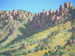 Chiracahua Shadows oil by Jeff Potter SOLD