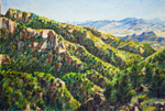 View East from Chiracahua Mtn Crest oil pastel by Jeff Potter AVAILABLE
