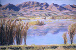 Chupadura Mountain pastel by Jeff Potter  SOLD