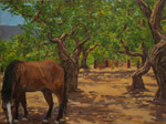 Cisco on Dixon Road - plein air oil painting by Jeff Potter SOLD