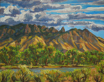 Clearing Storm, Sandia Mountains plein air oil by Jeff Potter SOLD