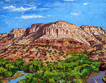 Confluence of Guadalupe and Jemez Rivers plein air oil painting by Jeff Potter AVAILABLR