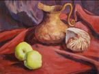 CopperPitcher& Amnonite Still Life Oil painting by Jeff Potter AVAILABLE