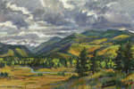 Crystal River Valley pastel by Jeff Potter SOLD