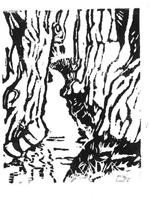 AcequiaWandering along Big Cottonwoods - LinoCut