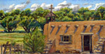 Rancho de los Golondrinas morada plein air pastel by Jeff Potter AVAILABLE