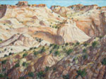 Escalante Canyon plein air pastel by Jeff Potter - AVAILABLE