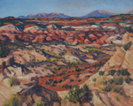 Escalante Canyons Shadows plein air oil painting by Jeff Potter AVAILABLE