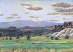 Escalante Valley View West plein air pastel by Jeff Potter AVAILABLE