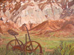 Plein Air oil of Fruita, Utah farming relics by Jeff Potter AVAILABLE