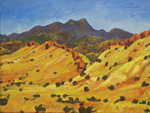 Galisteo Basin Hogback oil painting by Jeff Potter AVAILABLE